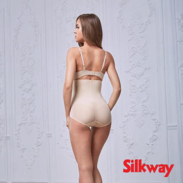 Антицеллюлитные корсетные трусы SilkWay бежевые, фотография вид сзади