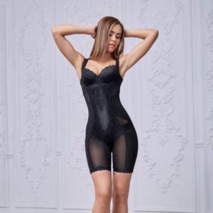 Комплект корректирующего белья Клеопатра черный, вид спереди фотография