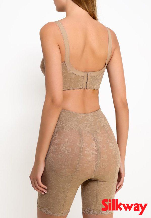 Утягивающие панталоны SilkWay бежевые, вид сзади фотография