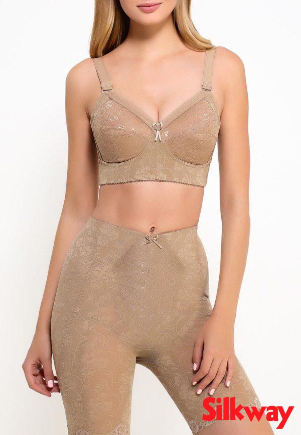 Утягивающие панталоны SilkWay бежевые, вид спереди фотография 2
