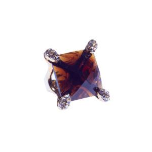 Кольцо «Коричневый топаз»