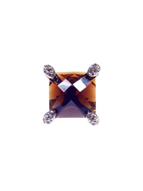 Кольцо «Коричневый топаз» 2