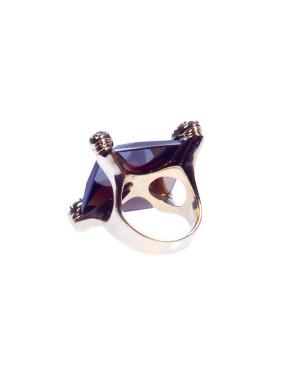 Кольцо «Коричневый топаз» 3